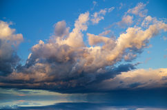 View of thunderstorm clouds. Stock Image