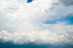 View of thunderstorm clouds. Stock Images
