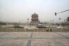A view of Tiananmen Square and Zhengyangmen Gate Tower. Beijing, China Stock Image