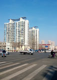 View of Tianjin. View of Tianjin Xian Yang road Tianjin China  photoed on February 28th 2014 Royalty Free Stock Photography