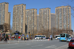 View of Tianjin. Tianjin third largest city in China photoed in March 2013 Royalty Free Stock Images
