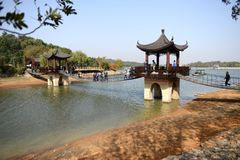 View of Tianmu Lake Royalty Free Stock Photos