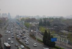 Beijing Tiantan Road in the Spring time Stock Images