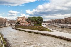 Tiber Island Royalty Free Stock Images