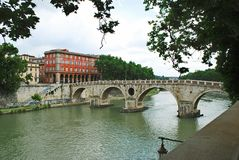 View of Tiber river in Rome city on May 31, 2014 Royalty Free Stock Photo