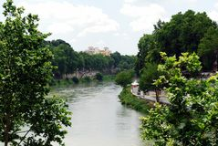 View of Tiber river in Rome city on May 31, 2014 Stock Photo