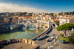 View on Tiber river in Rome Royalty Free Stock Image
