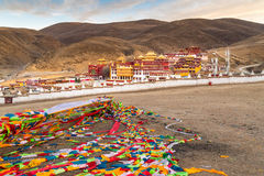 View of Tibetan Monastery in Litang Royalty Free Stock Image