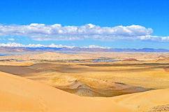 View from the Tibetan plateau to the valley of the Brahmaputra River Stock Images
