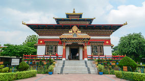 View of the Tibetan temple in Bodhgaya, India Royalty Free Stock Photography