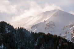 View of Tiganesti ridge. Landscape of Tiganesti ridge from Bucegi Mountains, Romanian Carpathians Royalty Free Stock Image