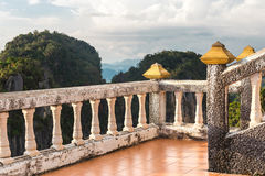 View from Tiger Temple - South Thailand, Krabi Royalty Free Stock Image