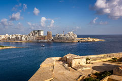 View on Tigne Point and Sliema District from Valletta Royalty Free Stock Images