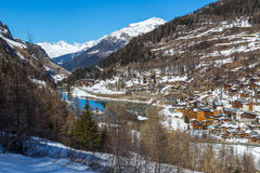 View of Tignes les Brevires. View of the resort Tignes les Brevieres, France Stock Photo