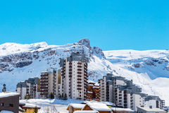 View of Tignes Val Claret Royalty Free Stock Photo