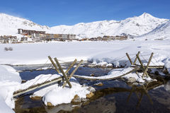 View of Tignes. Village, France Royalty Free Stock Photo