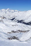 View of Tignes in winter Royalty Free Stock Image