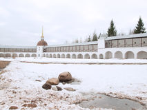 View of Tikhvin Uspensky monastery, Russia Royalty Free Stock Images