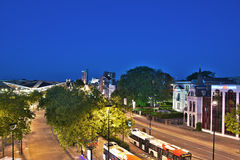 View of Tilburg Train Station, The Netherlands Royalty Free Stock Photos