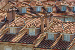 View on tile roofs Stock Photos