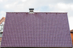 View of the tiles on the roof Stock Photography