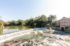 View of Timbo city waterfall, Santa Catarina Royalty Free Stock Images