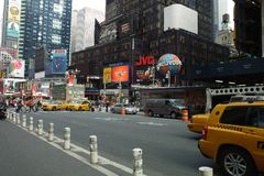 View of Times Square. New York, United States - October 04, 2008: View of Times Square in NYC stock photos
