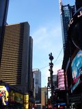 View of Times Square in the USA. View of one of the main touristic attraction in New York: Times Square royalty free stock image