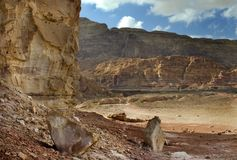 View on Timna park, Israel Stock Photo