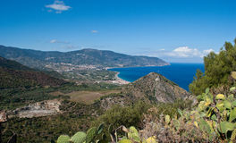 The view from tindari mountain Royalty Free Stock Images
