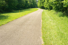 A View of the Tinker Creek Greenway. Roanoke, VA – June 11th: A view of the Tinker Creek Greenway on a beautiful summer's day located in Roanoke stock image
