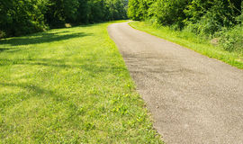 A View of the Tinker Creek Greenway. Roanoke, VA – June 11th: A view of the Tinker Creek Greenway on a beautiful summer's day located in Roanoke stock images