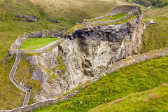 View of Tintagel. Landscape view showing upper part of Tintagel historic site Royalty Free Stock Photos