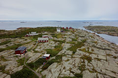 View of the tiny island of Vinga, Sweden. Vinga is one of the remotest islands in the Gothenburg archipelago Royalty Free Stock Photo