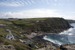 View from the tip of Cape Cornwall Stock Photo