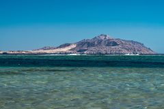 View of Tiran Island from Red Sea in Sharm El Sheikh, Egypt. View of Tiran Island from Red Sea in Sharm El Sheikh, Egypt Stock Photos