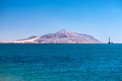 View of Tiran Island from Red Sea in Sharm El Sheikh, Egypt. View of Tiran Island from Red Sea in Sharm El Sheikh, Egypt Royalty Free Stock Photo