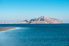 View of Tiran Island from Red Sea. In Sharm El Sheikh, Egypt Stock Photography
