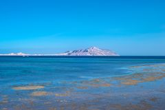 View of Tiran Island from Red Sea. In Sharm El Sheikh, Egypt Stock Image