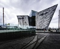 Titanic Museum Belfast in Ireland royalty free stock images