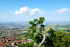 The view from Titano mountain Royalty Free Stock Photography