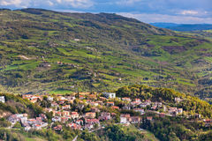 View from Titano mountain, San Marino at neighborhood Stock Photography