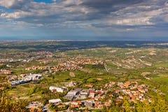 View from Titano mountain, San Marino at neighborhood Stock Image