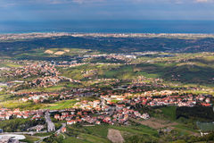 View from Titano mountain, San Marino at neighborhood Stock Photos
