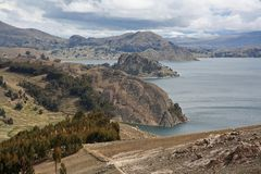View of titicaca lake Stock Photography