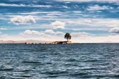 View of the Titicaca Lake on the border of Peru and Bolivia. By Stock Image