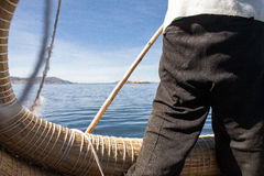 A view of the Titicaca Lake Stock Image