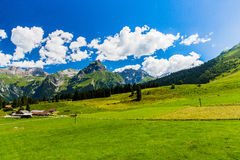 View of Titlis mountain Royalty Free Stock Images