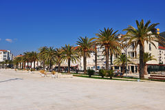 View of Tivat seafront, town of Montenegro Stock Image