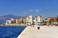 View of Tivat seaside, resort of Montenegro Royalty Free Stock Image